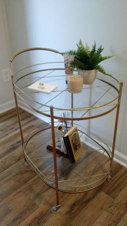 Gold Bar Cart $100 View on Craigslist