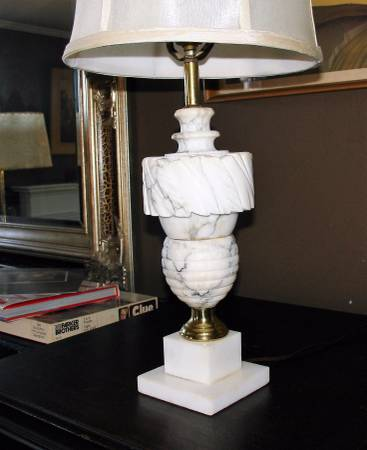 Marble Lamp $50 View on Craigslist