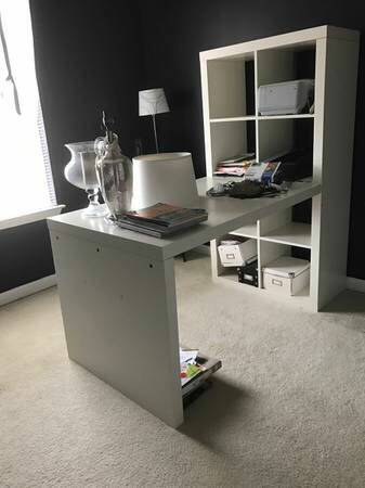 IKEA Desk and Shelf $125 View on Craigslist