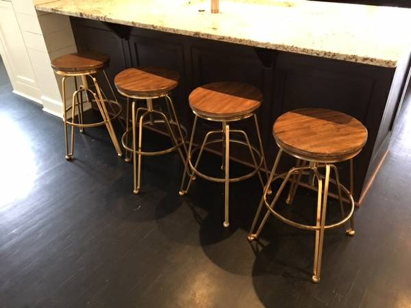 Set of Wood/Gold Stools $200 View on Craigslist