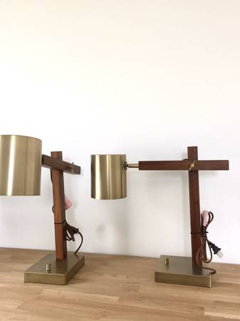 Pair of Modern Lamps $60 View on Craigslist