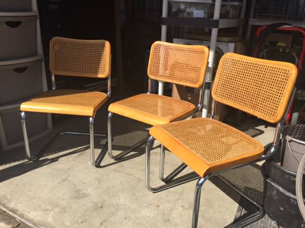 Breuer Style Chairs $20 each View on Craigslist