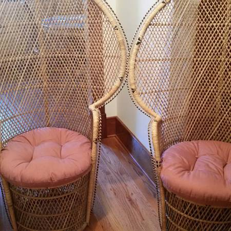 Pair of Peacock Chairs     $125     View on Craigslist