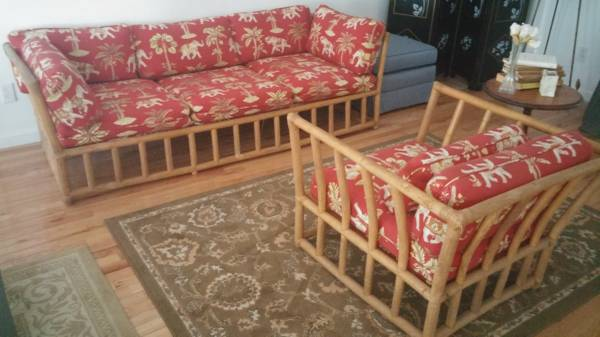 Bamboo Couch and Chair $160 View on Craigslist