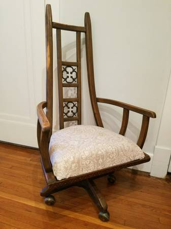 Antique Desk Chair $195 View on Craigslist