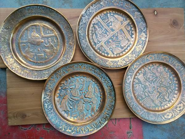Copper Plates $30 These would look great hanging on the wall.  View on Craigslist
