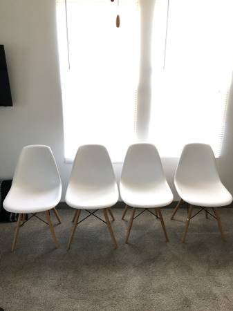 Eames Style Chairs (4) $125 View on Craigslist