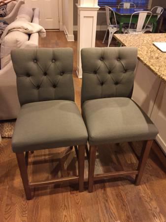 Pair of Tufted Stools $100 View on Craigslist