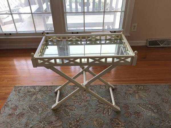 Mirrored Glass Tray Table $40 View on Craigslist