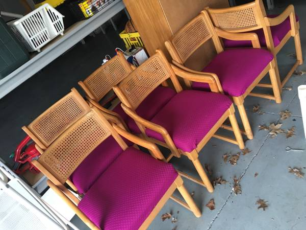 Cane Back Chairs (6) $30 These chairs are screaming for a makeover!  View on Craigslist