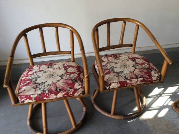 Rattan Swivel Chairs $45 View on Craigslist