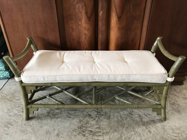Rattan/Bamboo Bench $100 View on Craigslist
