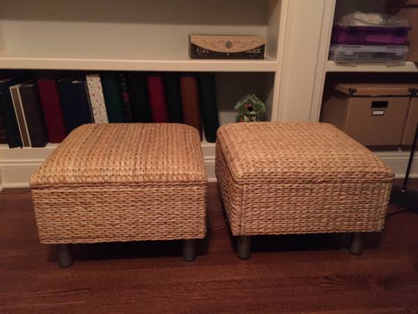 Woven Stools $50 These could be used together as a coffee table. View on Craigslist