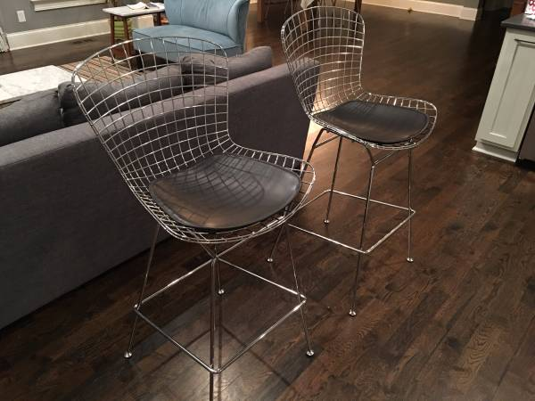 Pair of Modern Wire Stools $200 View on Craigslist