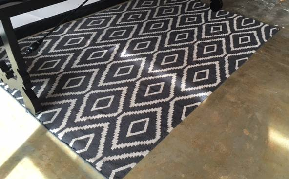 West Elm Kilim Rug $150 View on Craigslist
