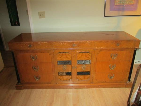 Antique Dresser/Buffet $295 This piece needs a bit of work but it would be beautiful once restored.  View on Craigslist