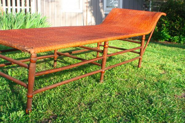Antique Wicker Lounger $150 View on Craigslist