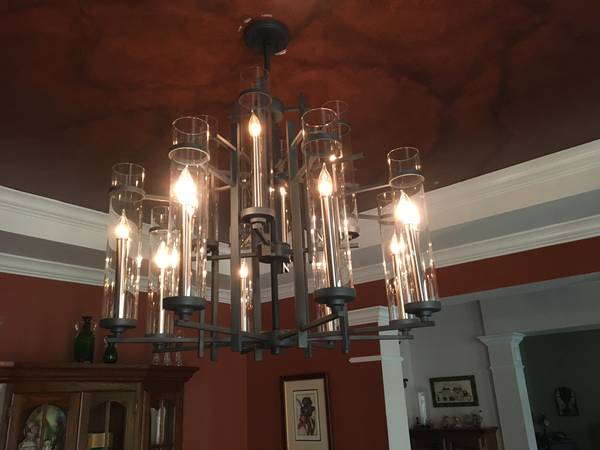 Restoration Hardware Chandelier $125 View on Craigslist