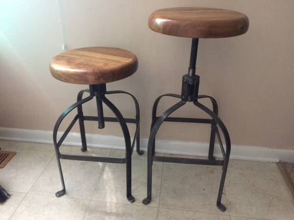 Pair of Adjustable Height Stools $90 View on Craigslist