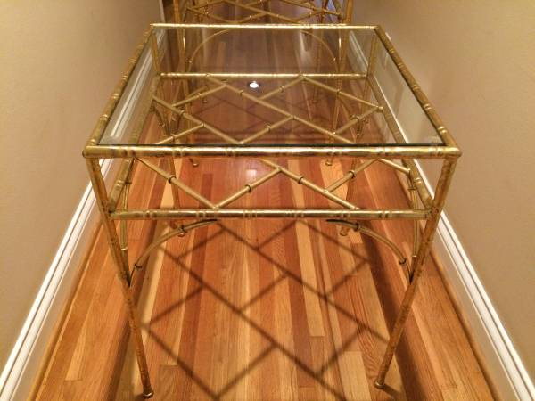 Pair of Gold End Tables $250 View on Craigslist