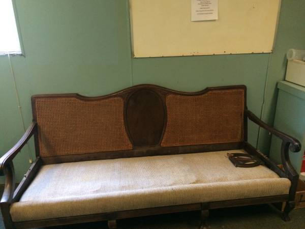 Antique Settee $25 This needs a bit of work but is a great piece! View on Craigslist