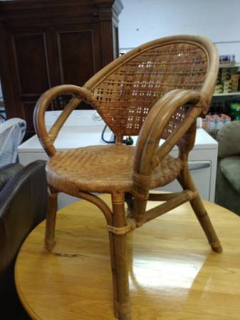 Wicker/Rattan Chair $25 View on Craigslist