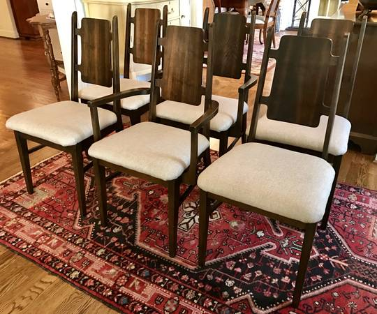 Set of Mid-Century Dining Chairs $475 View on Craigslist