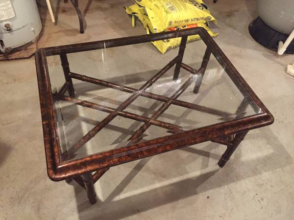 Faux Bamboo Coffee Table $30 View on Craigslist