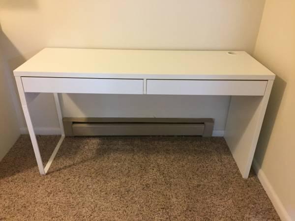 White Ikea Desk $50 View on Craigslist