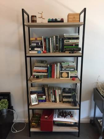 Wood/Metal Bookshelf $50 View on Craigslist