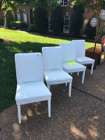 Set of Ikea Chairs     $100   This includes a new set of slipcovers.     View on Craigslist