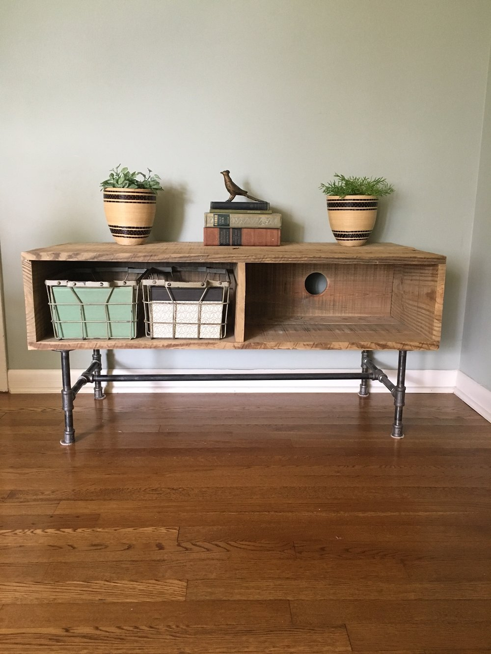 Reclaimed Wood Entertainment Center $250 View on Craigslist