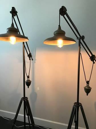 Pair of Vintage Floor Lamps $200 View on Craigslist