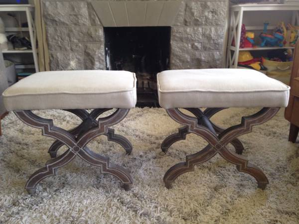 Pair of Ottomans $150 View on Craigslist