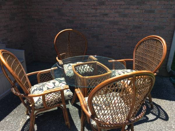 Rattan Table and Chairs $80 View on Craigslist