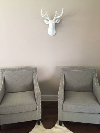 Pair of Grey Chairs $275 View on Craigslist