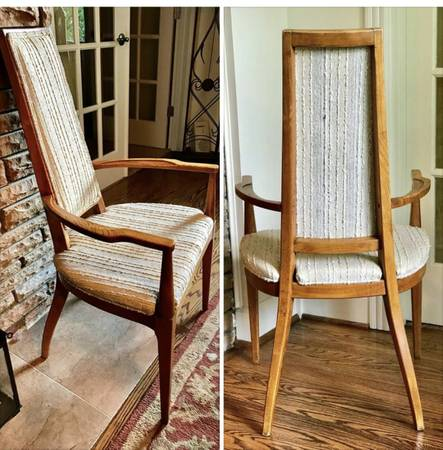 Set of Mid-Century Dining Chairs     $375     View on Craigslist
