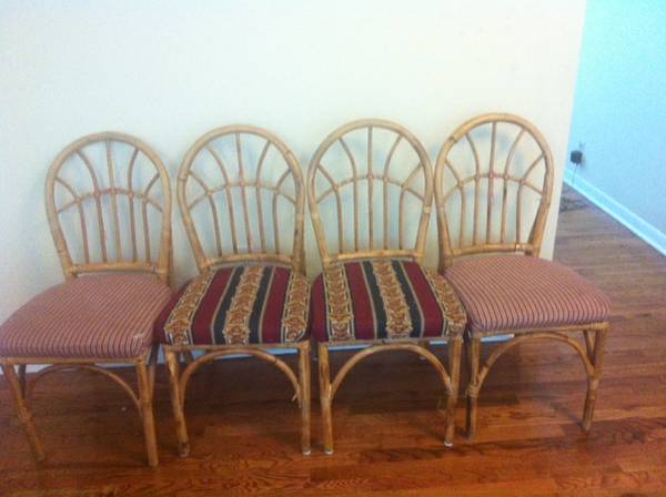 Set of Rattan Chairs     $20   This is a great deal and these seats would be easy to recover.     View on Craigslist