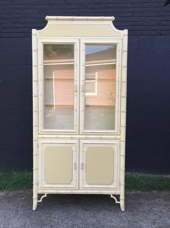 Dixie Faux Bamboo China Cabinet $450 View on Craigslist