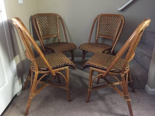 Rattan Bistro Chairs     $200     View on Craigslist
