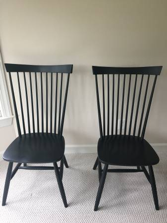 Pair of Crate and Barrel Chairs $150 View on Craigslist