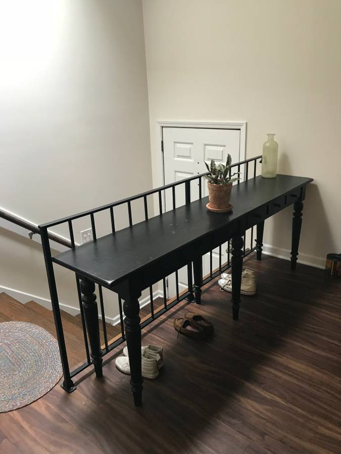 Pottery Barn Sofa Table $360 obo Seller seems motivated to sell so you could get a good deal on this.  View on Craigslist
