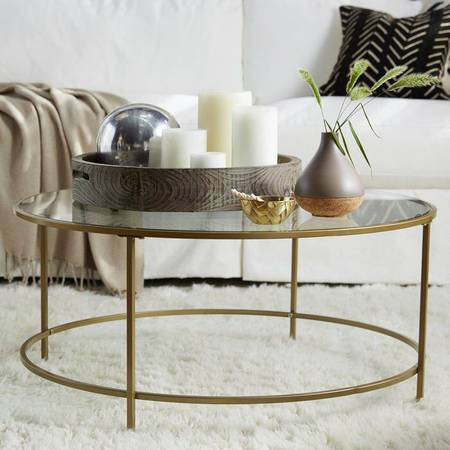 Gold Coffee Table $100 View on Craigslist