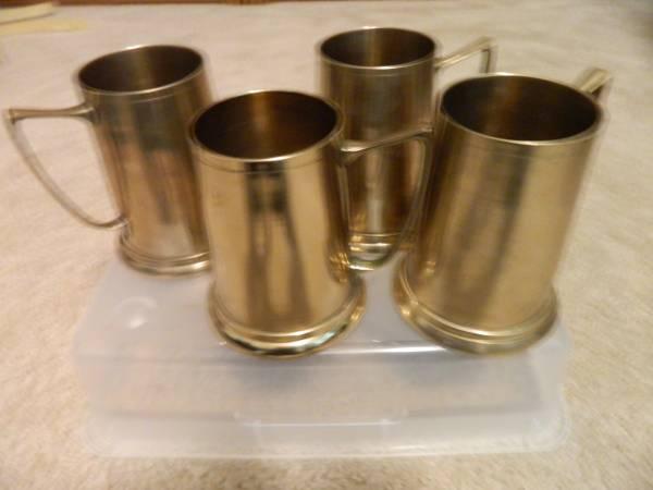 Brass Mugs $2 each View on Craigslist