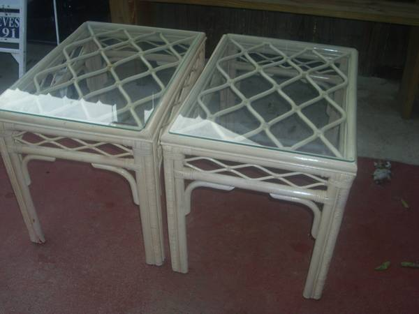 Pair of Rattan Tables     $50     View on Craigslist