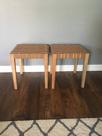 Pair of Leather Stools/Tables     $75     View on Craigslist