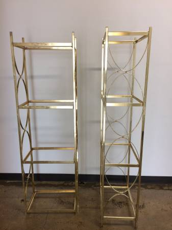 Pair of Gold Metal Shelves     $100     View on Craigslist