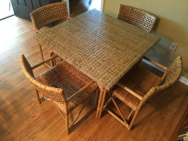 Rattan Table and Chairs     $150     View on Craigslist
