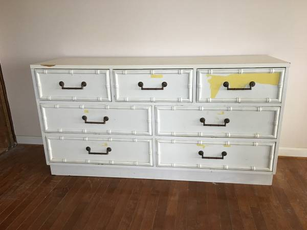 Bamboo Dresser     $40   This is a great deal - includes 2 nightstands!    View on Craigslist