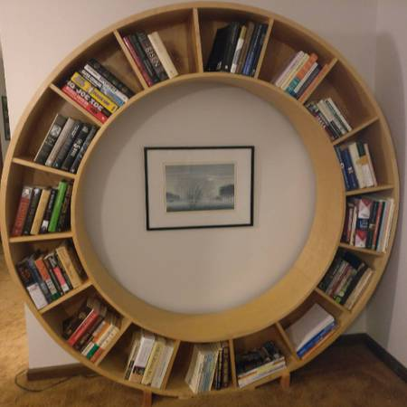 Circle Bookshelf     $300     View on Craigslist